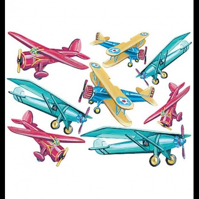 W10159  Giant stickers planes τιμή απο 115€ --> 35€