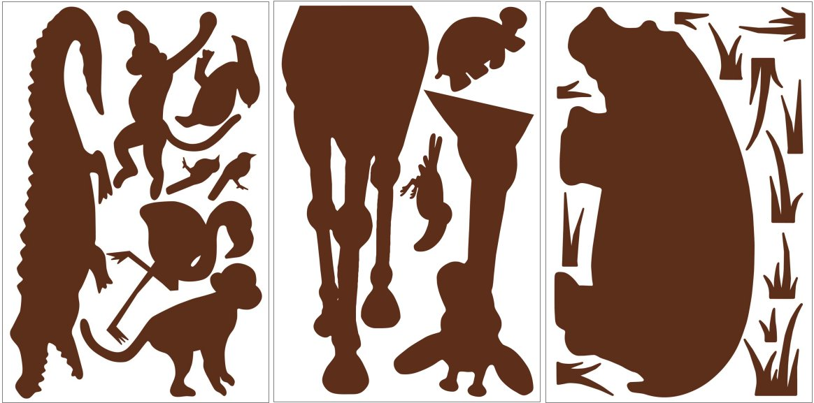 BA1 Giant mural-animals-brown- τιμή απο 85€-->25€